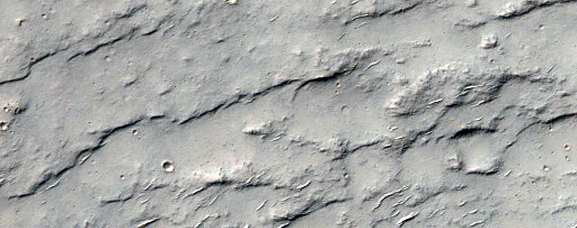 Possible Bedrock Exposures in Terra Cimmeria