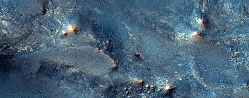 Exposed Ejecta East of Hargraves Crater