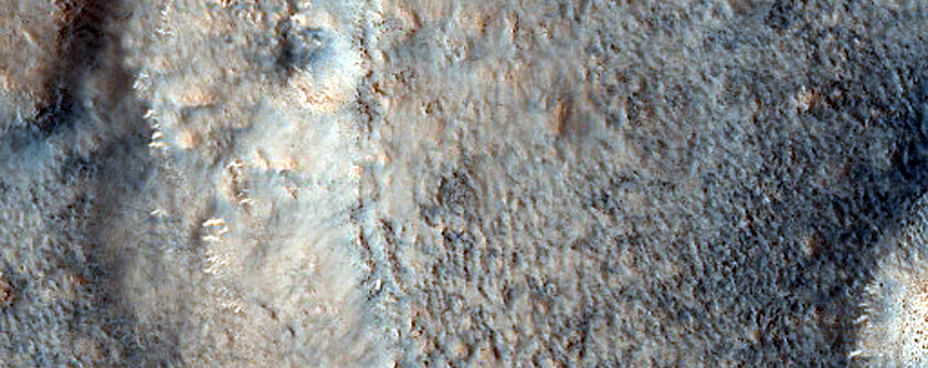 Layered Cone in Crater in Cydonia Region