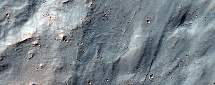 Southwest Ejecta Blanket of 6km Crater