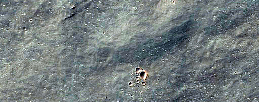 Eastern Discontinuous Ejecta of Noord Crater