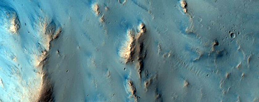 Eastern Portion of Possible Multiple Impact in Arabia Terra
