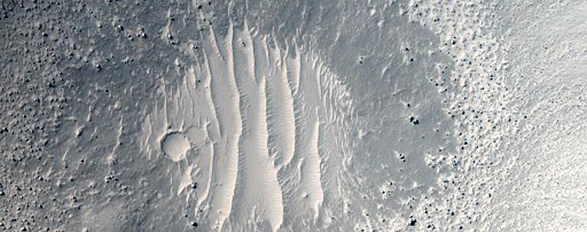 Monitor Slopes of Rayed Crater near InSight Lander