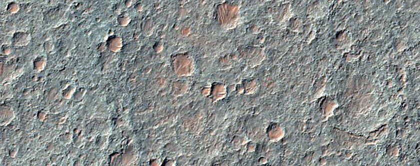 Flow Deposits in Eastern Ladon Valles Basin