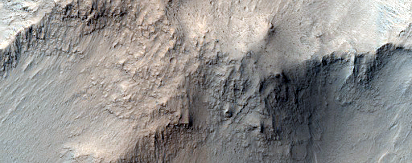 Layered Material and Wall Spur in East Candor Chasma