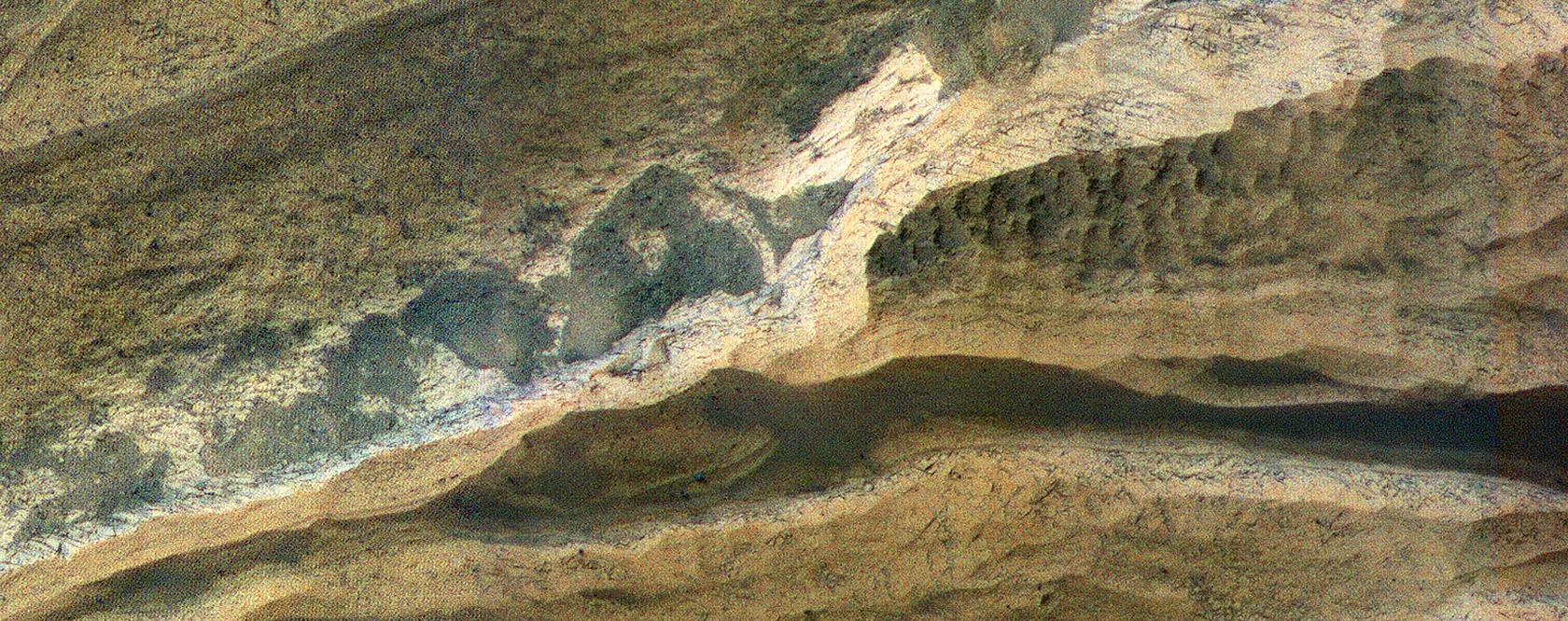 Sedimentary Rock Layers in Terby Crater