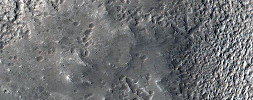 Cerulli Crater Ejecta