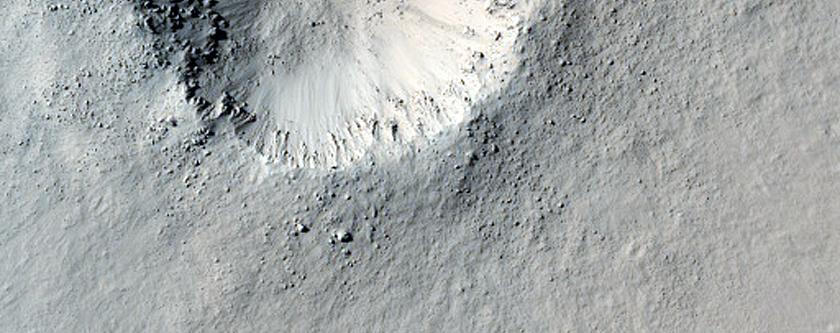 Very Fresh Small Crater in Arabia Region