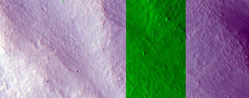 Portion of Central Peak of Moreux Crater