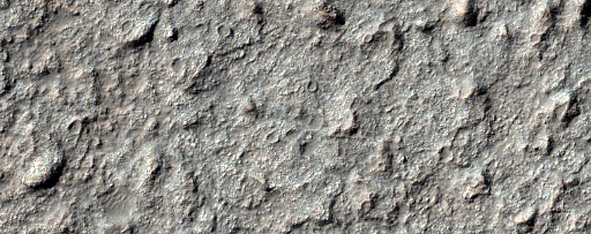 Bedrock Exposed by Impact Crater