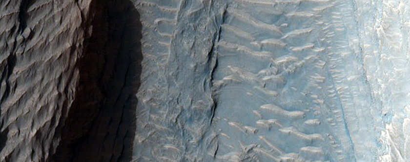 Fan Material at Alcove on Southwestern Aeolis Mons