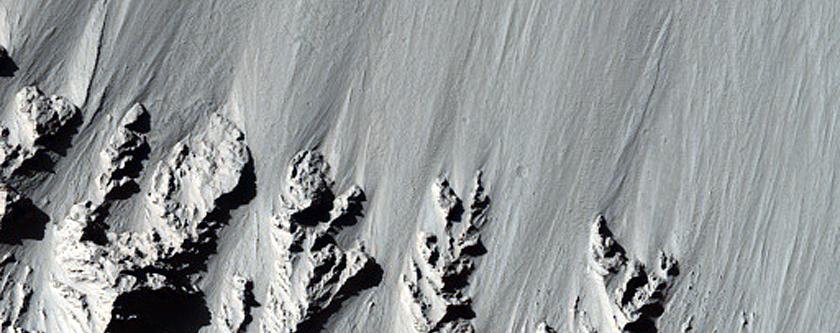 North-Facing Slope of Gratteri Crater