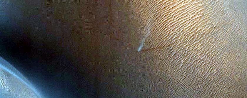 Dunes in Crater North of Antoniadi Crater