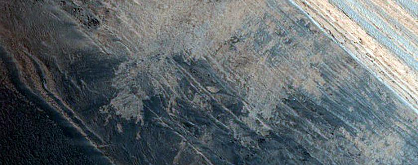 Steep Scarp in North Polar Layered Deposits