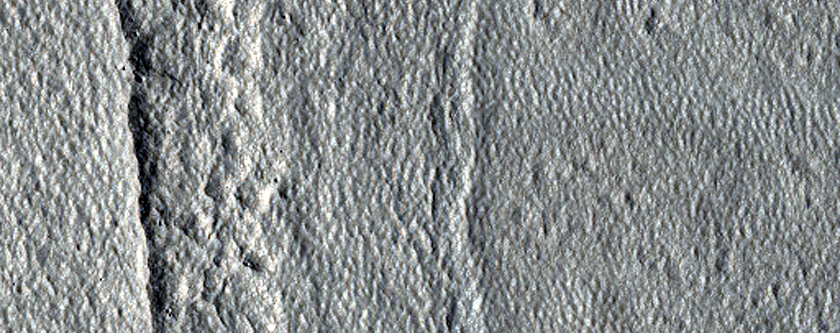Scarp in Milankovic Crater
