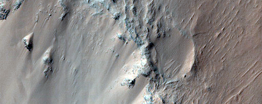 Monitor Slopes in Eos Chasma