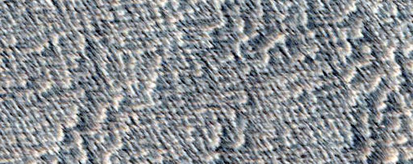Possible Skylight near Arsia Mons