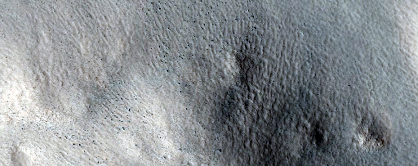 Knobs in Perepelkin Crater