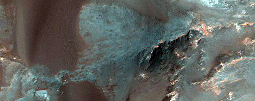 Dulovo Crater Region Barchan Dunes