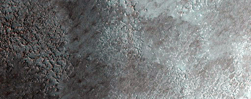 Ice Mound in Crater