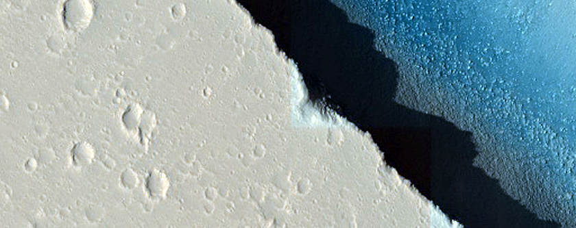 Stratigraphy Exposed in Walls of Hephaestus Fossae