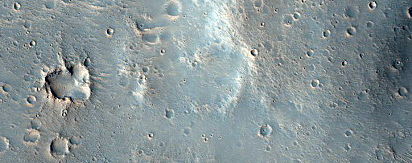 Crater in Xanthe Dorsa