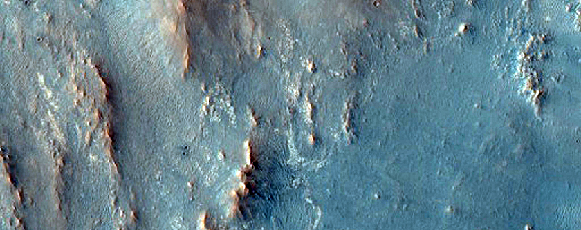 Ejecta Southwest of Hargraves Crater