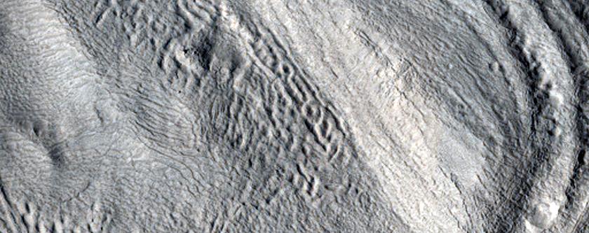 Crater in North Arabia Terra