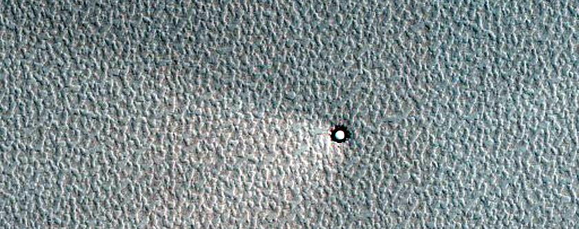 Ice-Filled Crater in North Polar Layered Deposits