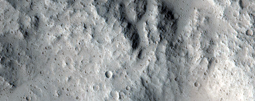 Lobate Deposit in Well-Preserved 6-Kilometer Impact Crater