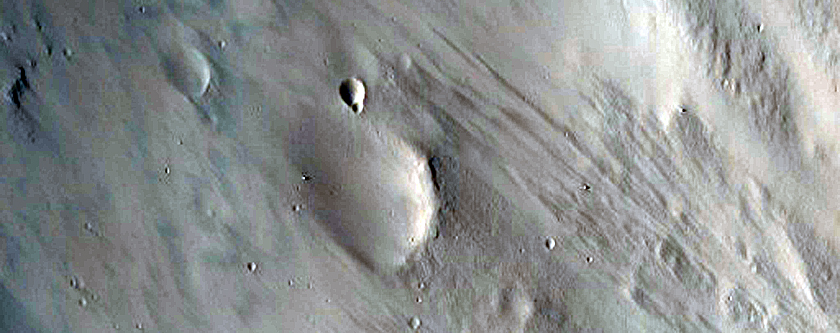 Crater in Southeast Isidis Planitia