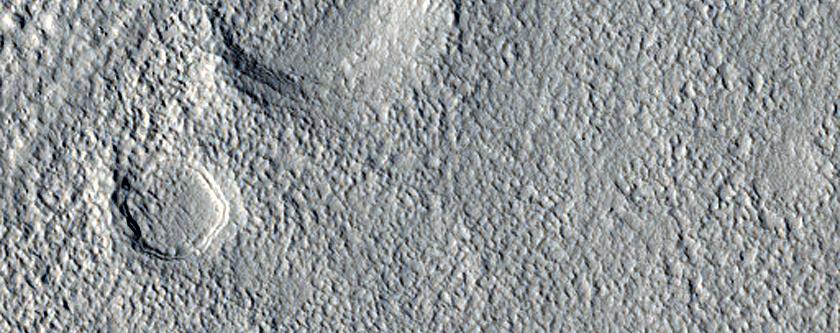 Landforms Northeast of Cassini Crater in Arabia Terra