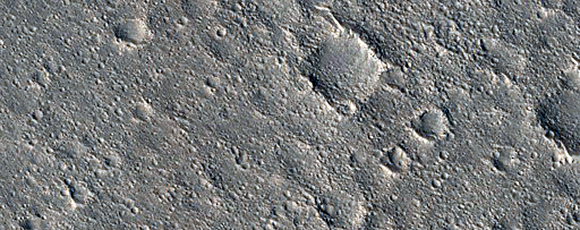 Northern Rays of Naryn Crater