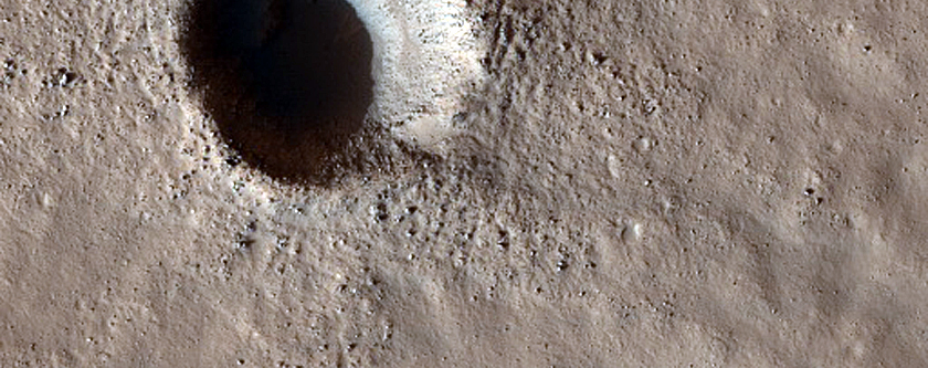 Fresh Craters in Northern Mid-Latitudes