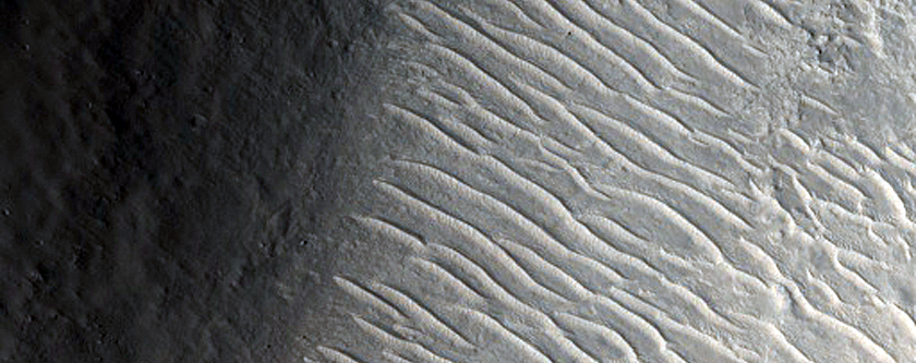 Graben near Isidis Planitia