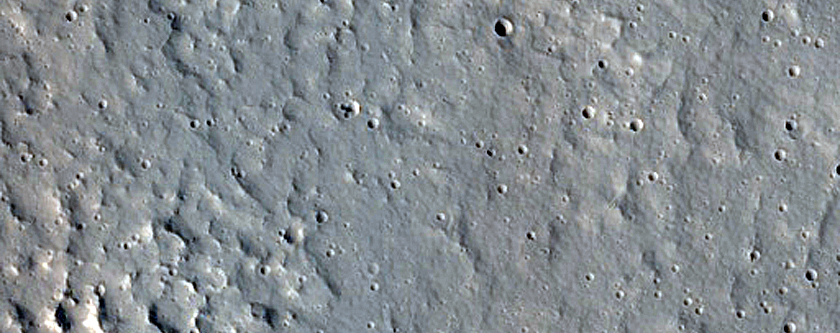 Well Preserved Crater on Alba Mons