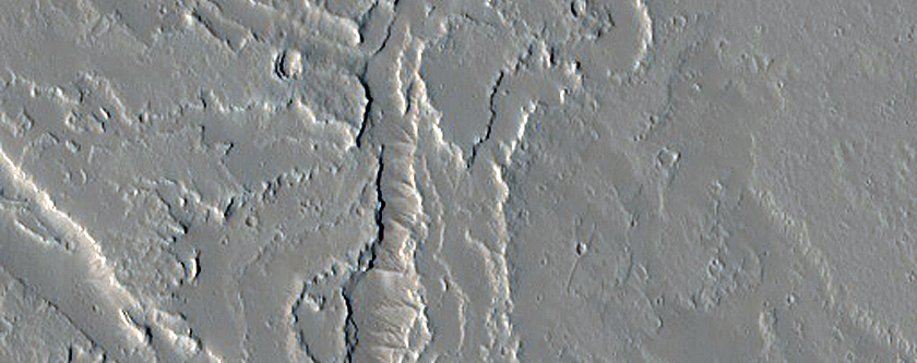 Vent and Fissure System East of Olympus Mons