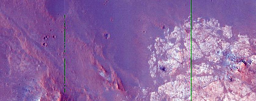 Terrace of Crater in Terra Sabaea