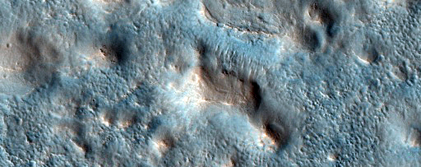 Craters and Mounds in Northern Mid Latitudes