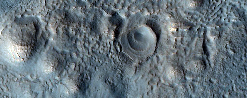Triple Crater East of Bamberg Crater