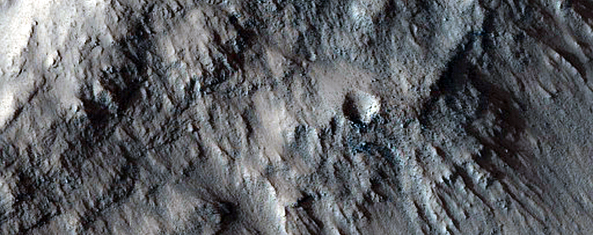 Baetis Chasma and nearby Impact Crater