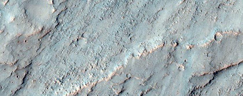 Sinuous Ridge Feature in CTX D21_035468_1545_XN_25S202W