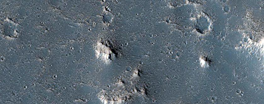 Landforms in Utopia Planitia
