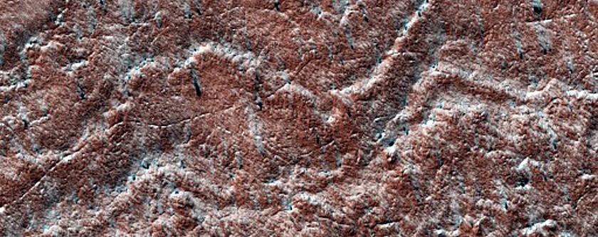 Edge of South Polar Layered Deposits
