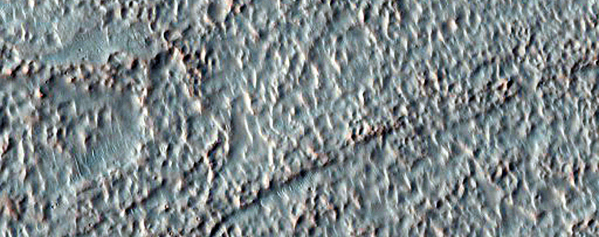 Gullies and Sediment Fan in Crater