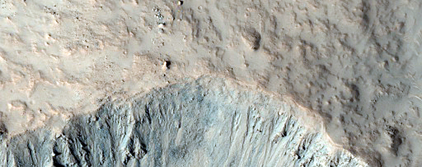 Monitor Slopes of Fresh Crater