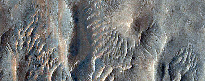 Ridges near Vernal Crater