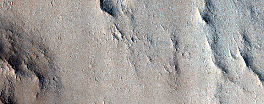 Layered Butte Northwest of Henry Crater