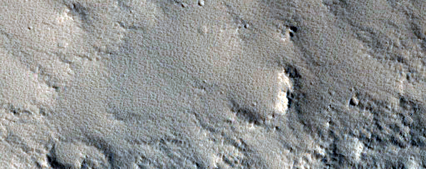 Crater on Fractured Terrain