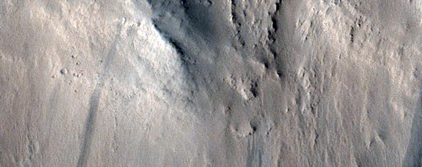 Slope Streak in Marte Vallis